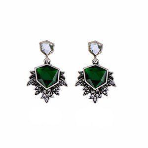 Vintage Emerald and Crystal Earrings